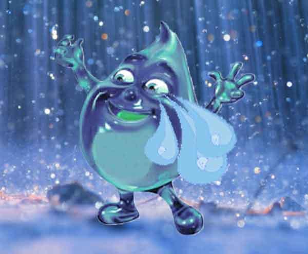tear crying and dancing in rain